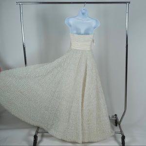 Vintage Dresses - 1950s Vintage Strapless Sweetheart White Dress